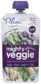 Plum Vegetable and Fruit Smoothie Mighty Veggie, Spinach, Parsnip, Grape, Amaranth