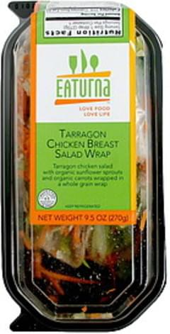 Eaturna Tarragon Chicken Breast Salad Wrap