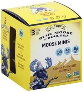 Blue Moose of Boulder Hummus Lemon Turmeric, Moose Minis