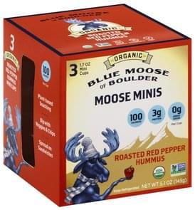 Blue Moose of Boulder Hummus Roasted Red Pepper, Moose Minis