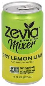 Zevia Mixer Zero Calorie, Dry Lemon Lime
