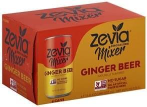Zevia Ginger Beer Zero Calorie