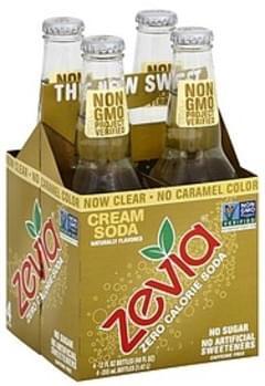Zevia Soda Zero Calorie, Cream Soda