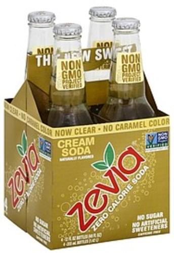 Zevia Zero Calorie, Cream Soda Soda - 4 ea