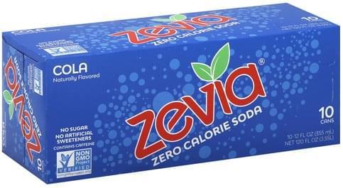 Zevia Zero Calorie Soda Cola - 10 ea