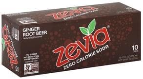 Zevia Soda Zero Calorie, Ginger Root Beer