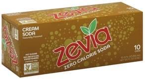 Zevia Soda Zero Calorie, Cream