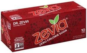 Zevia Soda Zero Calorie, Dr. Zevia
