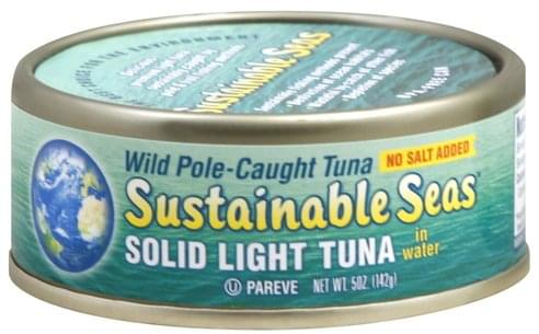 Sustainable Seas Solid Light, in Water Tuna - 5 oz