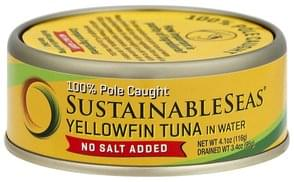 Sustainable Seas Tuna Yellowfin, in Water, No Salt Added