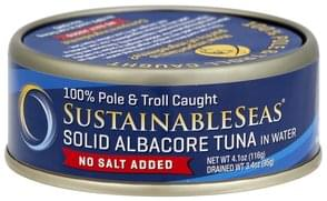 Sustainable Seas Tuna Solid Albacore, in Water, No Salt Added