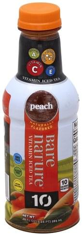 Bare Nature Vitamin, Peach Iced Tea - 20 oz