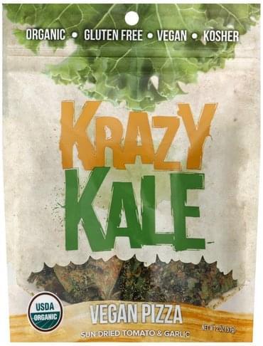 Krazy Kale Vegan Pizza, Sun-Dried Tomato & Garlic Kale Chips - 2 oz