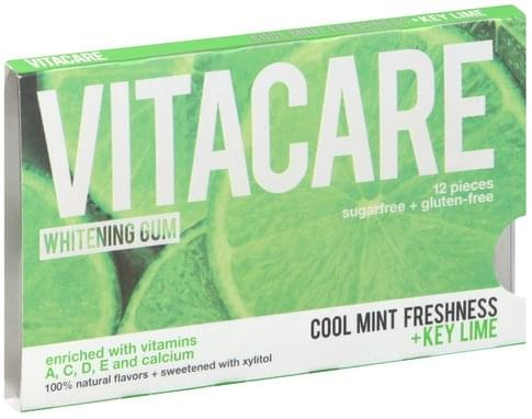 Vitacare Sugarfree, Whitening, Cool Mint Freshness + Key Lime Gum - 12 ea