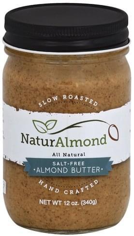 NaturAlmond Salt-Free Almond Butter - 12 oz