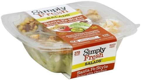 Simply Fresh Salads Santa Fe Style, with Chicken Salad - 6.9 oz