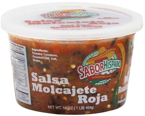 Sabor Hispano Red Fire Roasted Salsa - 16 oz