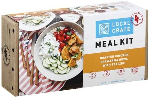 Local Crate Roasted Chicken Shawarma Bowl with Tzatziki Meal Kit - 31 oz
