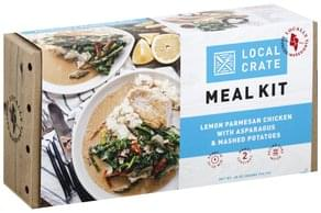 Local Crate Meal Kit Lemon Parmesan Chicken with Asparagus & Mashed Potatoes
