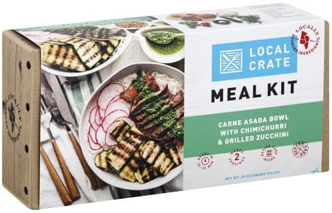 Local Crate Carne Asada Bowl with Chimichurri & Grilled Zucchini Meal Kit - 28 oz