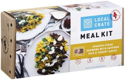 Local Crate Spanish Steak Skewers with Saffron Rice & Yogurt Sauce Meal Kit - 25 oz