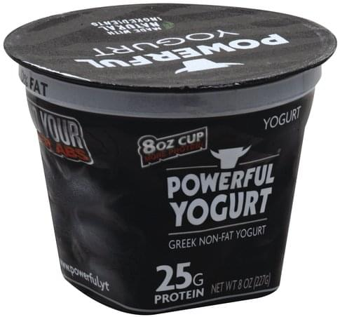 Powerful Yogurt Greek Non-Fat, Plain Yogurt - 8 oz