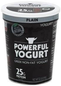 Powerful Yogurt Yogurt Greek, Non-Fat, Plain