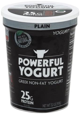 Powerful Yogurt Greek, Non-Fat, Plain Yogurt - 32 oz