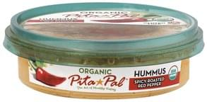 Pita Pal Hummus Organic, Spicy Roasted Red Pepper