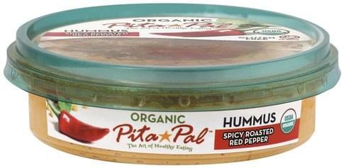 Pita Pal Organic, Spicy Roasted Red Pepper Hummus - 10 oz