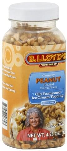 B Lloyds Old Fashioned, Crunchy Peanut Ice Cream Topping - 4.25 oz