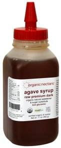 Organic Nectars Agave Syrup Raw Premium Dark