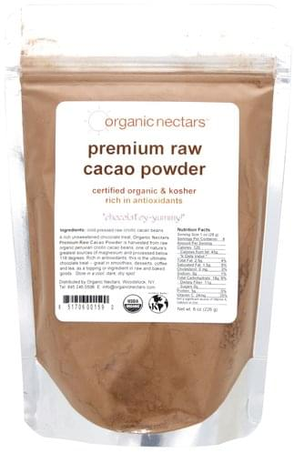 Organic Nectars Premium Raw Cacao Powder - 8 oz