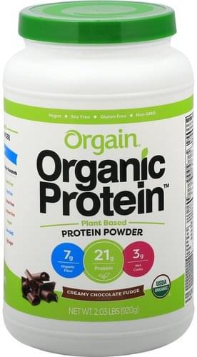 Orgain Creamy Chocolate Fudge Protein Powder - 2.03 lb