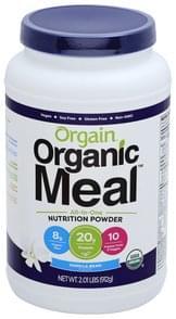 Orgain Nutrition Powder Vanilla Bean Flavor
