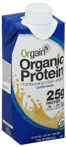 Orgain Protein Shake Nutritional, Vanilla Bean