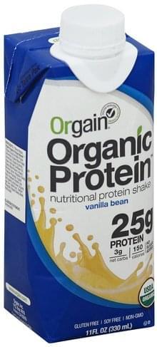 Orgain Nutritional, Vanilla Bean Protein Shake - 11 oz