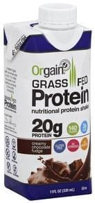Orgain Protein Shake Grass Fed, Creamy Chocolate Fudge