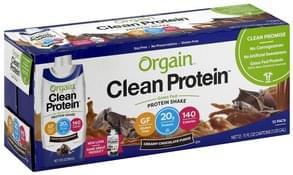 Orgain Protein Shake Creamy Chocolate Fudge Flavor, 12 Pack