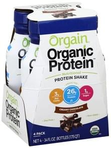 Orgain Protein Shake Nutritional, Creamy Chocolate Flavor, 4 Pack