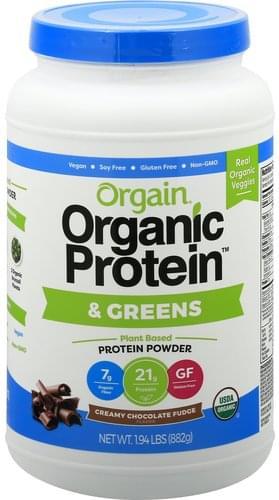 Orgain & Greens, Creamy Chocolate Fudge Flavor Protein Powder - 1.94 lb