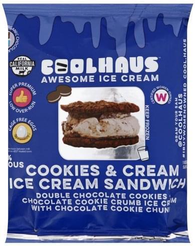CoolHaus Cookies & Cream Ice Cream Sandwich - 5 8 oz, Nutrition