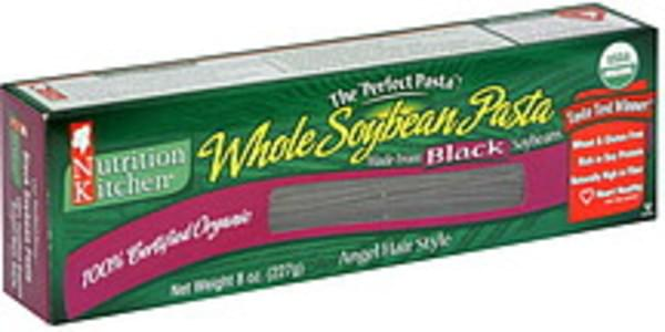 Nutrition Kitchen Whole Soybean Pasta Angel Hair Style, Made from Black Soybeans