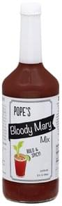 Popes Bloody Mary Mix Bold & Spicy