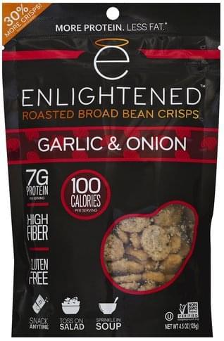 Enlightened Roasted, Garlic & Onion Broad Bean Crisps - 4.5 oz