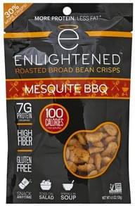 Enlightened Broad Bean Crisps Roasted, Mesquite BBQ