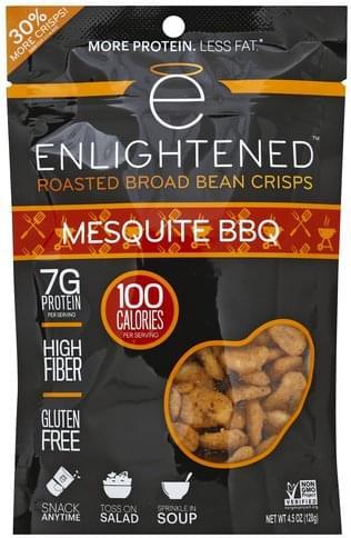 Enlightened Roasted, Mesquite BBQ Broad Bean Crisps - 4.5 oz