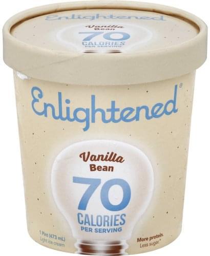 Enlightened Light, Vanilla Bean Ice Cream - 1 pt