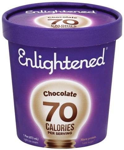 Enlightened Light, Chocolate Ice Cream - 1 pt
