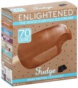 Enlightened Ice Cream Bars Low Fat, Fudge